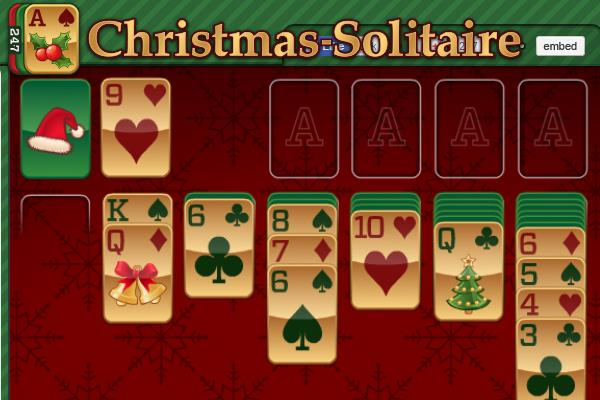 Christmas Solitaire Freecell.Christmas Solitaire Card Game Gift To You From Santa Claus