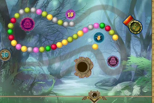 Lost Island Is A Free Online Zuma Marble Popper Connect 3 Game